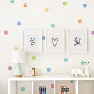 dots colors wall sticker