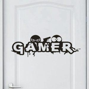 מדבקת קיר Gamer
