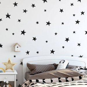 מדבקות קיר כוכבים 6 CM