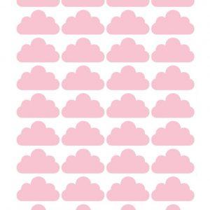 מדבקת קיר עננים ורודים