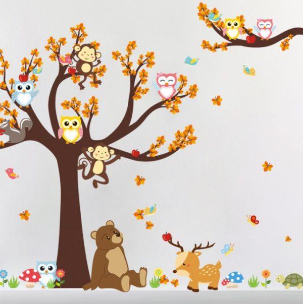 תצוגה של מדבקת הקיר חיות הגונגל וחברים