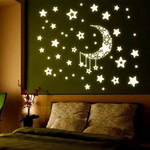 מדבקת קיר כוכבים זוהרים בחושך