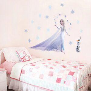 מדבקת קיר של נסיכות - אנה ואלזה מפרוזן frozen