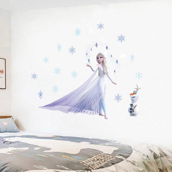 מדבקת קיר פרוזן לעיצוב חדר של נסיכות