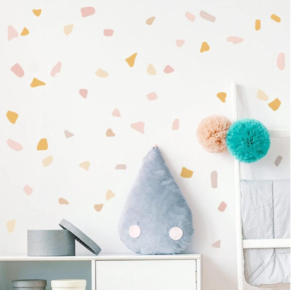 מדבקת קיר צורות אסימטריות לעיצוב הבית מתאימה לכל חדר