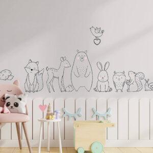 מדבקות קיר חיות וחברים