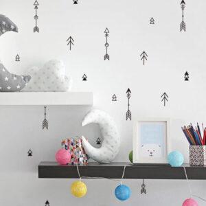 מדבקות קיר חצים לעיצוב חדר הילדים