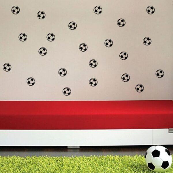 מדבקות קיר כדורגל על הקיר