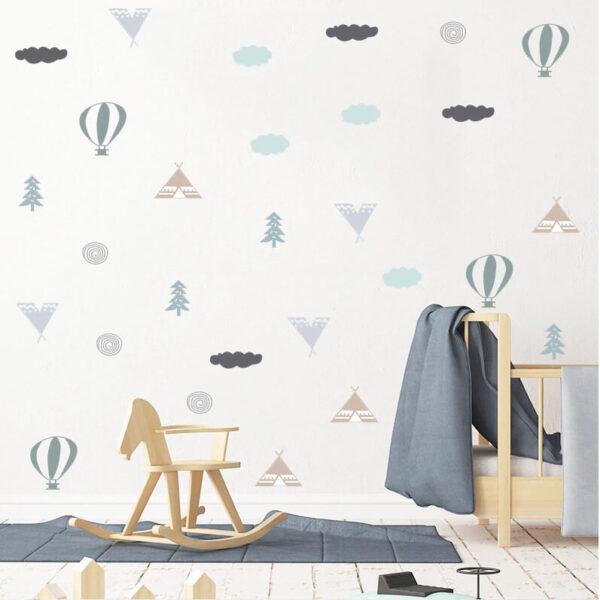 מדבקות קיר לילדים לעיצוב החדר ניתנות להדבקה בתפזורת