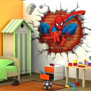 מדבקת קיר גיבורי על ספיידרמן