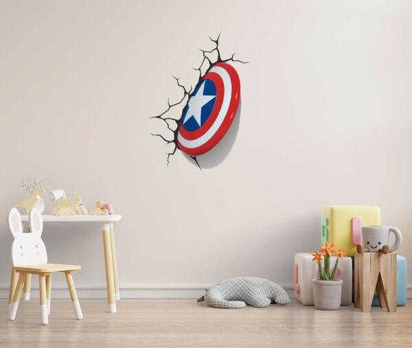 מדבקת קיר קפטן אמריקה
